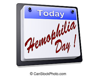 Hemophilia Day - One day Calendar with Hemophilia Day on a...