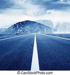 Highway - The road leading to mountains