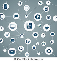 Abstract modern network scheme