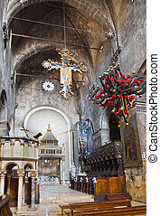 Church interior at Trogir in Croatia