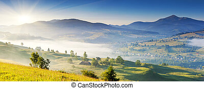 mountains landscape - Morning sunny day is in mountain...