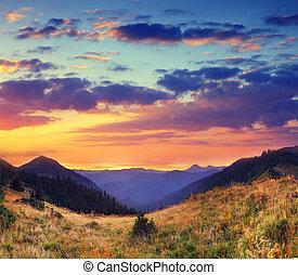 mountain landscape - Majestic colorful landscape in the...