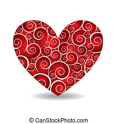 heart vector - brown heart over white background. vector...