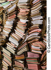 Stack of documents and papers - Stack of documents, papers...