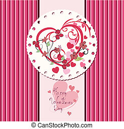 Valentine's day card design.