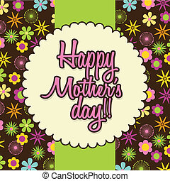 mothers day over brown background. vector illustration