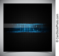 Smooth colorful abstract techno background Vector...