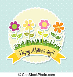 mother day over blue background. vector illustration