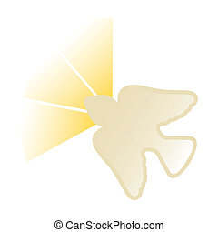 holy Spirit icon over white background vector illustration