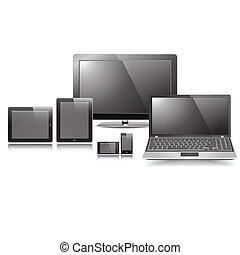 Blank Responsive Display Set graphic vector eps10