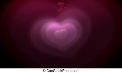 background made of red hearts