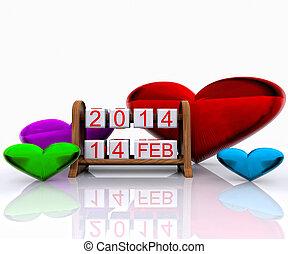Valentine's Day  - Date - Valentine's Day 2014, 3D