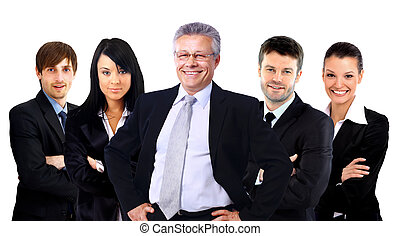 Group of business people. Isolated over white background