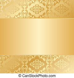 gold background with ornaments