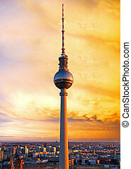 berlin television tower - television tower in berlin mitte...