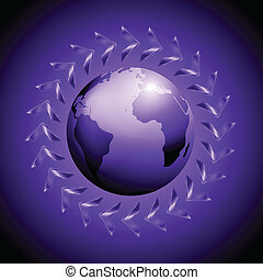 Vector design with arrows and globe