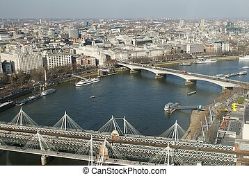 London from bird perspective - high