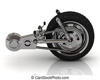 Wheel of motorcycle with chain