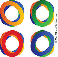 Set of abstract circles logos