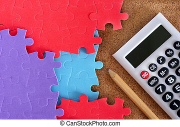 Completing the missing jigsaw puzzle with calculator and...
