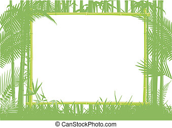 Bamboo and Jungle Frame