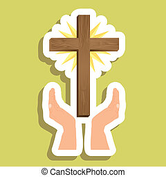 Jesuschrits - Religious Illustration, Cross of Our Lord...