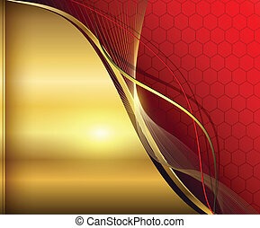 Elegant abstract background red and gold
