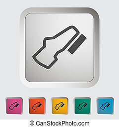 Adjustable pedal. Single icon. Vector illustration.