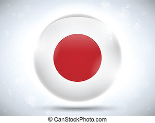 Japan Flag Glossy Button