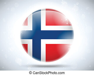 Norway Flag Glossy Button