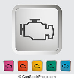 engine - Engine Single icon Vector illustration
