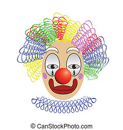 clown - colorful illustration with clown for your design