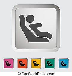 Lower anchors and tethers for children. Single icon. Vector...