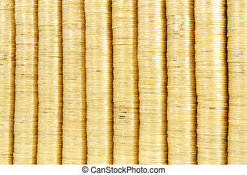 gold coin stack background