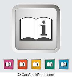 See owners manual Single icon Vector illustration