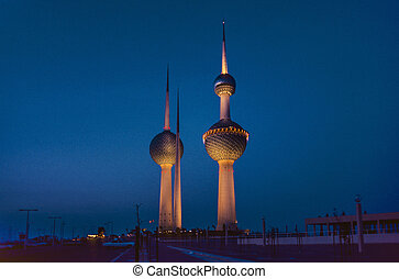 Kuwait water Towers - KUWAIT CITY, KUWAIT - JULY 1: Kuwait...