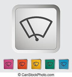 Car icon wiper. Vector illustration.