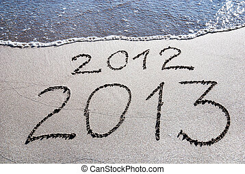 Happy New Year 2013 replace 2012
