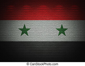 Syrian flag wall, abstract grunge background