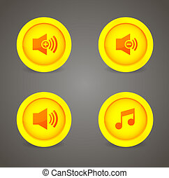 Media player glossy buttons collection
