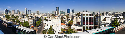 Tel-Aviv panoramic view - Tel-Aviv, viewed from above,the...