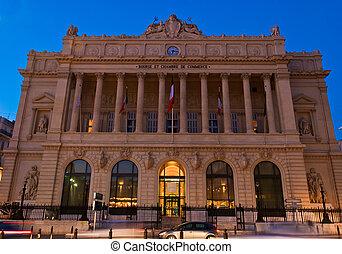 Marseille's Landmark - Facade of Bourse et Chambre de...