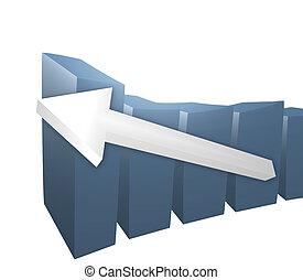Business 3D bar chart