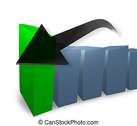 Business 3D bar chart