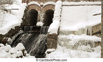 dam water flow snow