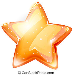 magic gold glossy star isolated on white background - EPS10...