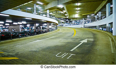 Indoor Car Park - Indoor car park ramp in Amsterdam,...
