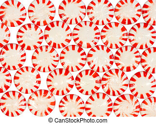Candy Mints - Candy mint background on a white background