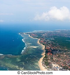 Aerial view on Bali - Aerial view of Nusa Dua beach on Bali...