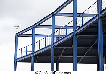 Blue Viewing Platform with Steel Girders - Blue viewing...